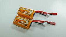 USA - 2 x FMS 7.4v 350mAh 15c Lipo Battery for RC Models
