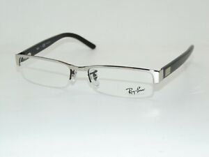 Ray Ban RB 6182 2509 Silver/Black 53mm RX Authentic Eyeglasses