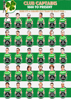 Celtic FC Club Captains Poster 1888 to present large A1 size