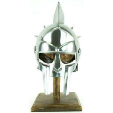 Ancient Replica Helmet Roman Gladiator Maximus Spiked Helmet with Stand Armor