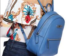 NWT GUESS VANWELL BACKPACK BAG Large Blue Logo Faux Leather Handbag GENUINE