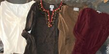 James Perse, Chico's etc. LOT 4 Women Small L/S & 3/4 Sleeve Shirts (LOT LCM 16)