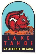 Lake Tahoe CA NV California Nevada  Vintage Looking  Travel Decal  Label Sticker