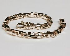 10k Solid Rose Gold Men's Anchor Mariner Link Chain Bracelet 7 MM 34 grms 9.25""