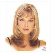 Mode femmes Blond/marron mélanger longueur moyenne Perruque,+ gratuit hairne