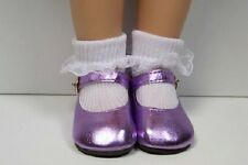 "Lavender Metallic Doll Shoes Fits 18"" Effanbee Katie Dolls (Debs)"