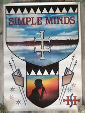 SIMPLE MINDS original 1984 WATERFRONT TOUR POSTER RARE !!!
