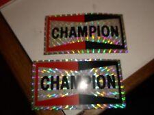 2 x  vintage motocross sticker genuine  35 years old nos champion spark plugs
