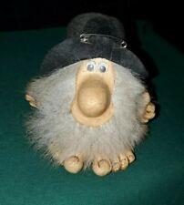 Vintage Hillbilly Gnome Troll Felt Floppy Hat Googly Eyes Folk Art Paula 1985