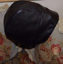 BNWT Beautiful Designer PRADA Ladies Black Lambskin Leather Hat S ITALY
