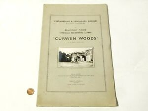 1952 Original Auction Catalogue Curwen Woods Westmorland Real Photographs