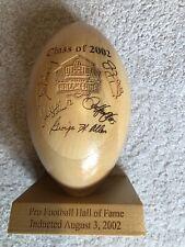 Commemorative NFL Hall Of Fame Wooden Football Jim Kelly Stallworth Casper