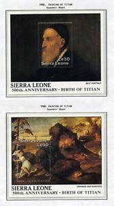 SIERRA LEONE   MNH   998-99   Birth of Titian  Paintings  Art   XF431