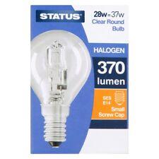Halogen Energy Saving 28W Clear Golf Ball Light Bulbs BC ES SES New