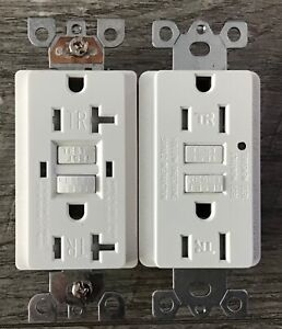 2 Pack GFCI Wall Outlet Dual -20A 60HZ 125V