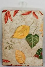 "Fabric Tablecloth Autumn Fall Leaves Thanksgiving Decor Design 52"" x 70"""