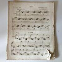 partition études faciles et proggressives 1er Livre HENRY LEMOINE Op:37 XIXe