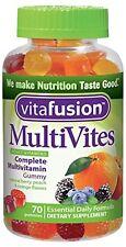 Vitafusion Gummy MultiVites Dietary Supplement Berry Peach Orange 70 Each