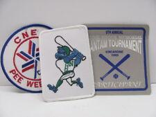 Pee Wee/Bantam Baseball Patches