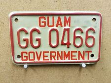 Guam Government Motorcycle License Plate