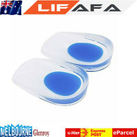 Latest Silicone Gel Shoes Pads Pair Cushion Heel Spikes Pain Heel Cup Foot CareM