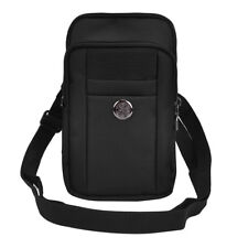 Black Vertical Belt Clip Cellphone Pouch Bag For Samsung Galaxy S8 / J7 Nxt / J3