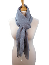 Ladies Grey Ditsy Delicate Floral Print Pashmina Scarf Wrap Oversize Gifts
