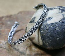 Viking Bracelet flexible En Argent Sterling bracelet Forgé main