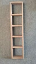 Tall Slim Handmade Solid Wood Tower Multi Use Shelf 5 surfaces 5 openings Top
