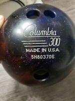 VINTAGE COLUMBIA 300 WD Bowling Ball glitter 12 lbs Made USA b055