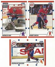 10 1990-91 SCORE HOCKEY MONTREAL CANADIENS CARDS (ROY/SMITH+++)