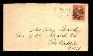1860s Peekskill NY Eagle & Shield Fancy Cancel Cover - L29058
