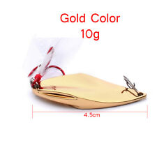 1pc Fishing Lure 4.5cm-10g Spoon Metal Lures Gold/Silver Bassbait Fishing Tackle