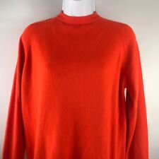 Vintage 1960s Sweater Sx S Orange by Designers Originals Orlon Acrylic Pin Up