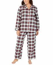 Family Pajamas Plus Size Women's Stewart Plaid Pajama Set White 1X