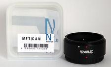 Novoflex adaptador MFT/can Canon FD a Panasonic g Olympus pen MFT/can ***