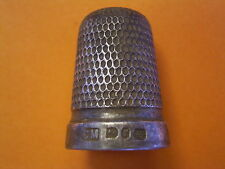 Victorian Solid Silver Thimble - Charles May - UK Metal Detecting Find