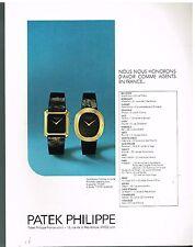 Publicité Advertising 1977 Les Montres Patek Philippe