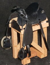 Dollhouse Miniature Cowboy / Western SADDLE ONLY New Black 1:12 Horse Rodeo