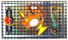 OVERSIZE JAPANESE POKEMON CARD (7.5cm X 13cm) POCKET MONSTERS N° 026 RAICHU HOLO