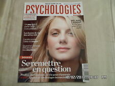 PSYCHOLOGIES N°312 NOV 2011 MELANIE LAURENT DOSSIER SE REMETTRE EN QUESTION  D70