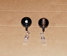 Black Apple Computer Logo Badge Holder Made by Apple - NEW -