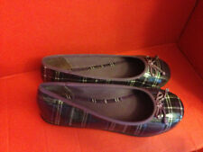 UnionBay girls purple shoes size 5 crystal plaid g