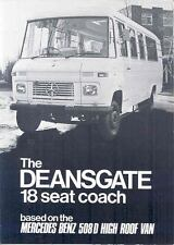1979 Mercedes Benz 508D Deansgate Williams Bus Brochure wo5207-XQJLEJ