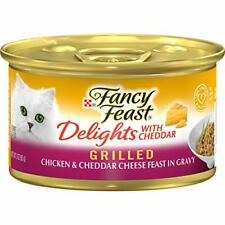 New listing Purina Fancy Feast Grilled Gravy Wet Cat Food, Delights Grilled Chicken 3 oz