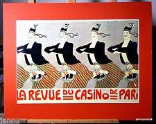Publicité impression derrière Passepartout années 80 LA REVUE DE CASINO DE PARIS