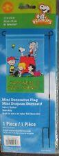 "Snoopy & The Peanuts Gang Mini Garden Flag-""Happiness Is Good Friends"" Nip"