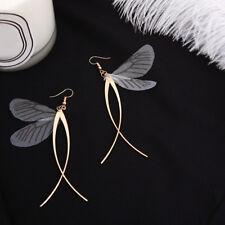 Women Fairy Dragonfly Wings Drop Dangle Tassel Hook Earrings Jewelry Gift Health