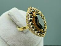 Turkish Handmade Jewelry 925 Sterling Silver Onyx Stone Women Ring Sz 8