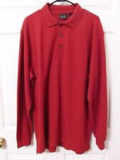 MENS JoS A Bank Polo  Long Sleeves Travellers Collection XL - Big & Tall